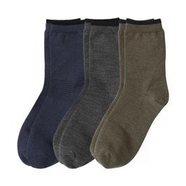 WOOL SOCK EVERYDAY 3-pack // blau-grau-grün