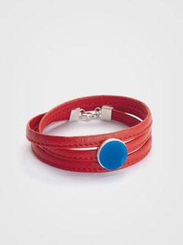Lederarmband Rot & Blau
