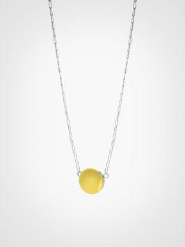 Halskette Anhänger Achat Gelb