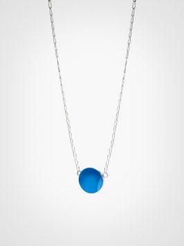 Halskette Anhänger Achat Blau
