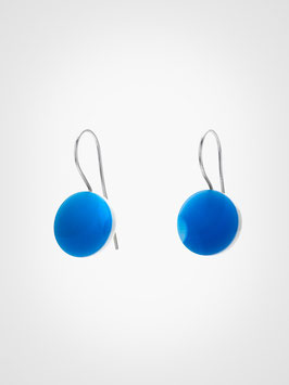 Ohrringe Achat Blau