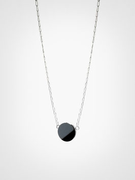 Halskette Anhänger Hämatit Schwarz