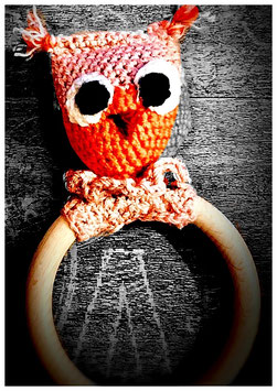 "/ Amigurumi ""little Uhu-Ring"" Artikelnummer: 0057"