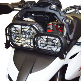 Folding headlight protection grill BMW F700GS