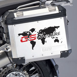World map sticker GS Adventure for side pannier