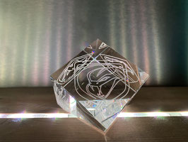 Engraved Crystal Cube gift