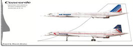 cp N° 6 Concorde AIR FRANCE BRITISH AIRWAYS