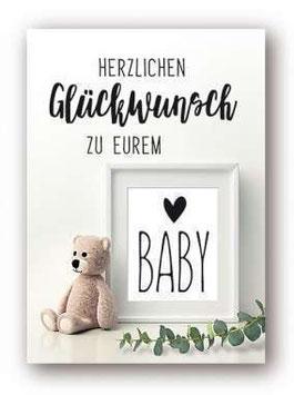 """Grußkarte  """"Herzlichen Glückwunsch zu eurem Baby"""""""