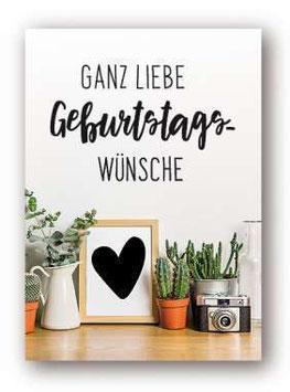 """Grußkarte  """"Ganz liebe Geburtstagswünsche"""""""