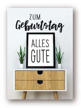 """Grußkarte  """"Zum Geburtstag, Alles Gute"""""""