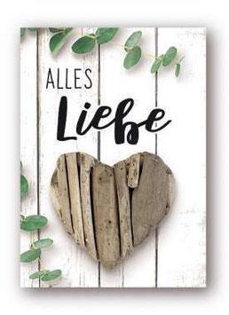 """Grußkarte  """"Alles Liebe"""""""