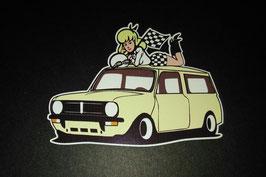 Sticker Mini clubman blonde