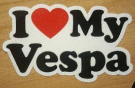 I Love My Vespa Sticker