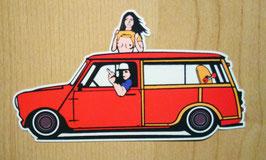Sticker Mini T red