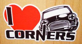 Sticker I love corners