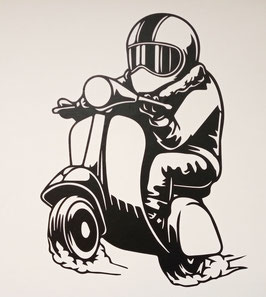Vespa  wall sticker