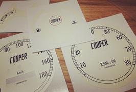 Kit Stickers Dial Kits Mini Cooper 1275 vintage