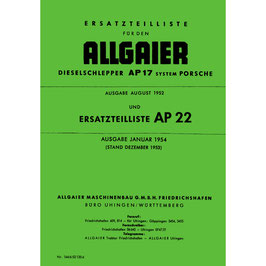 ETL Ersatzteilliste AP17, AP22