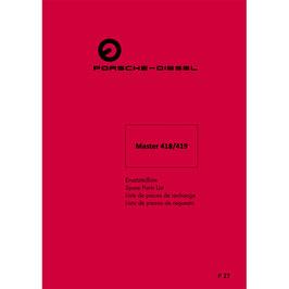 ETL Werkstatt Ersatzteilliste Master 418, 419