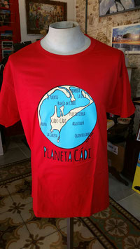 "Camiseta ""Planeta Cádi"" Hombre color ROJO"