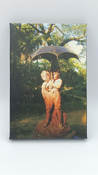 """Fotolienzo """"Los niños del paraguas"""" 20x25"""