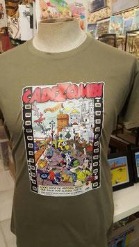 "Camiseta ""CadiZombi""  SKaYLINE Hombre color CAQUI"