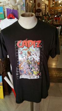 "Camiseta ""CadiZombi""  SKaYLINE Hombre color NEGRO"