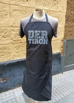 """Delantal """"Der tirón"""" negro"""