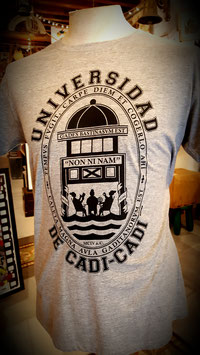 """Camiseta """"Universidad de Cadi-Cadi""""  Hombre color gris"""
