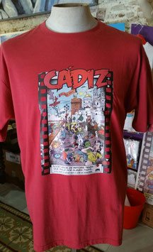 "Camiseta ""CadiZombi"" SKaYLINE Hombre color CEREZA"