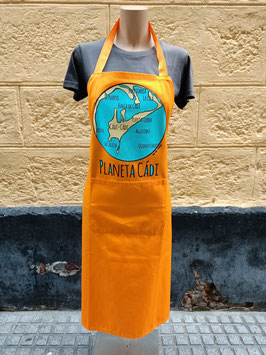 "Delantal ""Planeta Cádi"" color MOSTAZA"