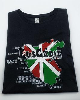 """Camiseta """"Euscádiz"""" Hombre color NEGRO"""