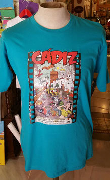 "Camiseta ""CadiZombi"" SKaYLINE Hombre color TURQUESA"