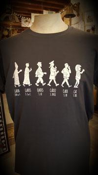 """Camiseta """"Caivolución"""" Hombre color gris oscuro"""