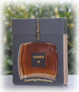 Codex 18 - Zwetschgenbrandcuvée 0,5 l