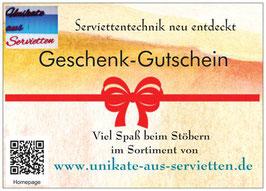 Geschenkgutschein ab 5,00 €