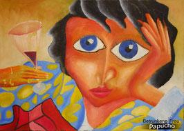 Betrunkene Frau