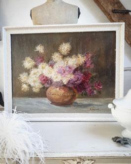 Zauberhaftes altes Bumen Ölbild Blumenbouquet