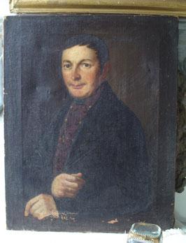 Antikes Porträt eines jungen Mannes Mitte 19. Jahrhundert