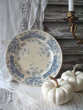Shabby: Keramik Teller mit Patina aus Frankreich 1900