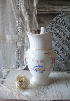 Zauberhafte alte Porzellan Kanne Frankreich