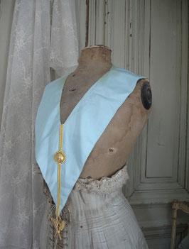 Alte Schärpe Freimaurer mit Anhänger Frankreich
