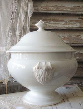 Shabby: Antike Keramik Terrine CREIL & MONTEREAU Frankreich