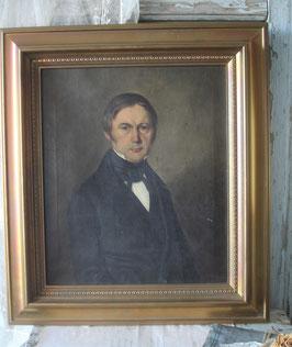 Antikes Herren Porträt Ölgemälde Ende 19. Jahrhundert