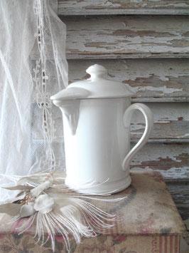 Antike Schokokanne Keramik aus Frankreich