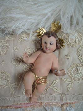 Wunderbares Jesuskind aus Gips Frankreich 1900