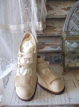 Antike edwardianische Mädchen Schuhe um 1900