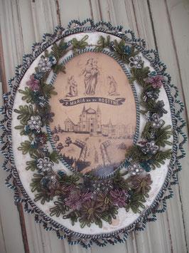 Wunderschöne alte Klosterarbeit /Perlenarbeit um 1920