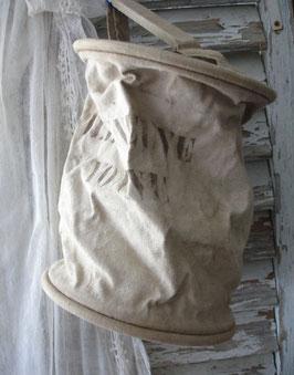 Dekorativer alter Löschsack Feuerwehr aus Frankreich