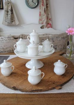 Sooo shabby: Antike Set Porzellan Tassen + Teller Frankreich